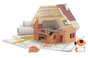House construction - white background